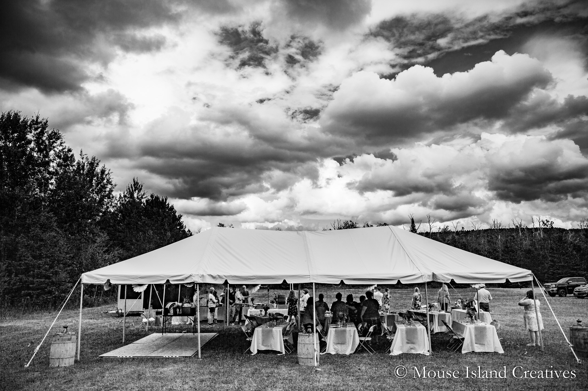 Caribou, Maine | Backyard Wedding Photography | Lisa & Scott Smith