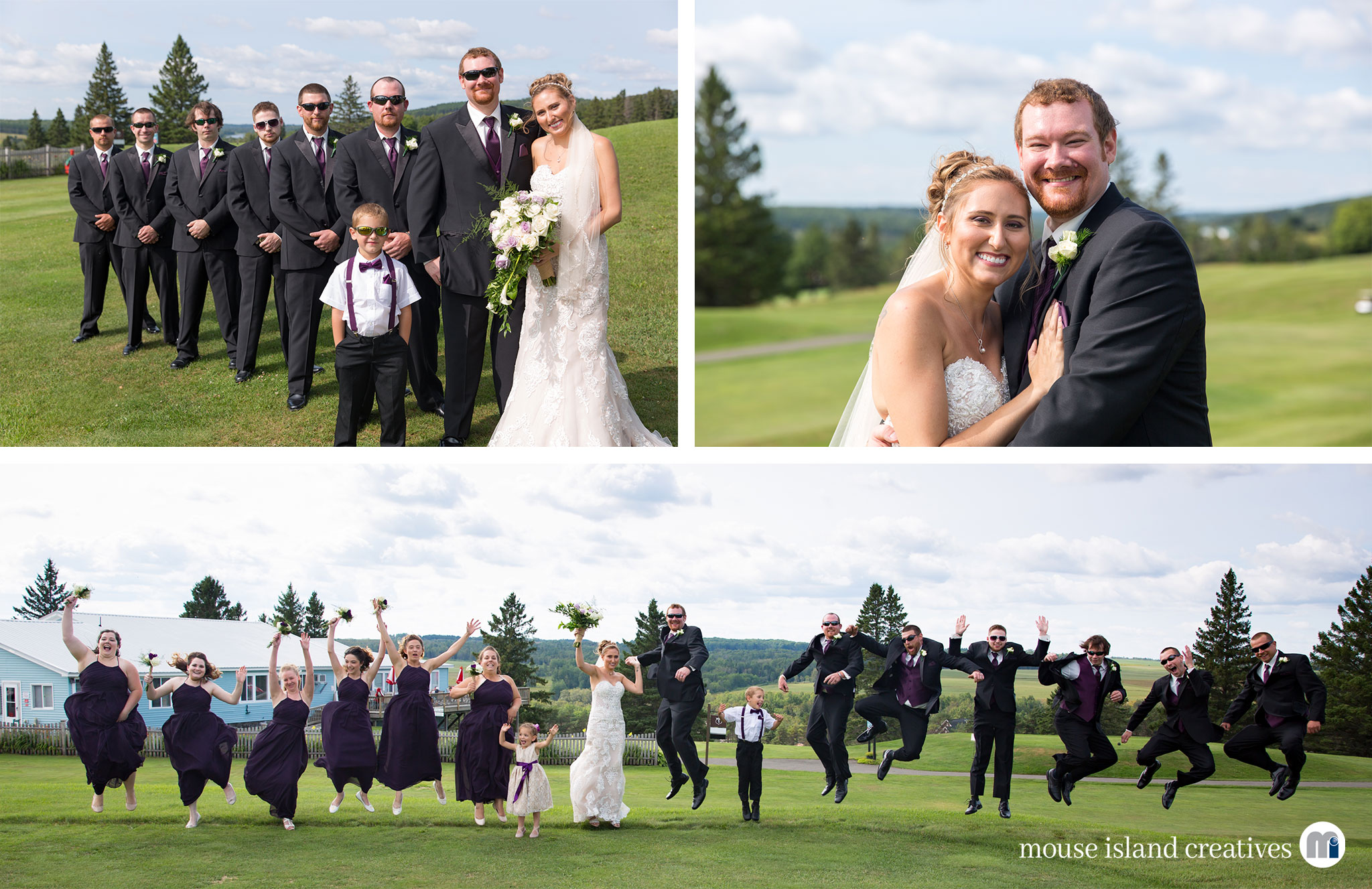 06-Presque Isle Maine Country Club Wedding Engagement Couples Portrait Photography