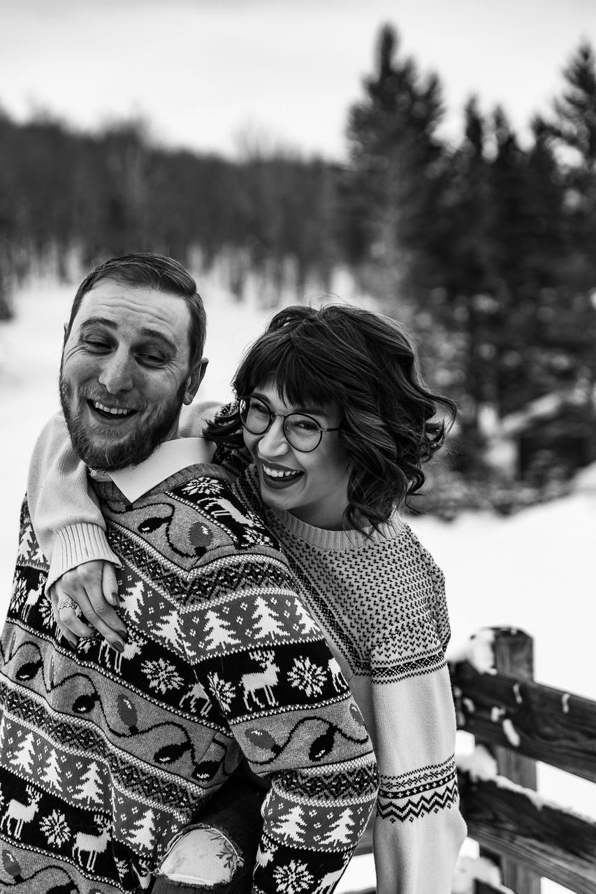 Gardiner Maine Winter couples portraits engagement photographer mouse island creatives wedding photography senior photos black white