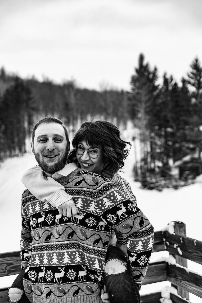 Hallowell Maine Winter couples portraits engagement photographer mouse island creatives wedding photography senior photos black white