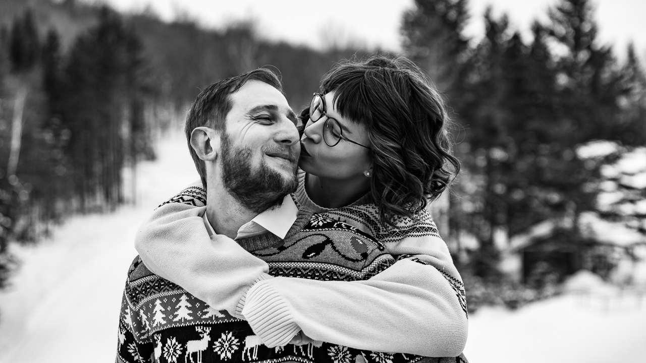 Journal portland maine wedding photographers winter couples session mouse island creatives photography black white