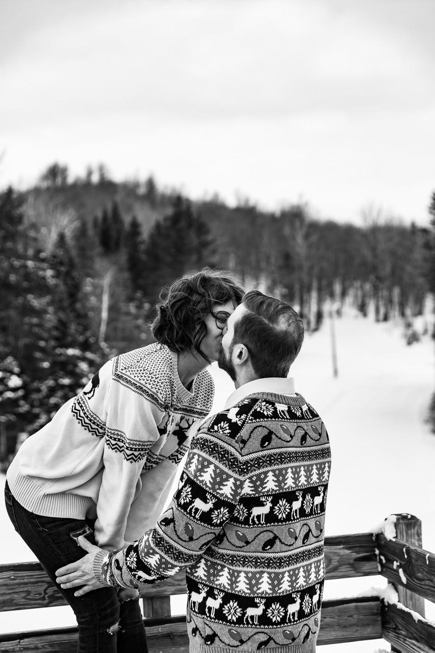 Lewiston Maine Winter couples portraits engagement photographer mouse island creatives wedding photography senior photos black white