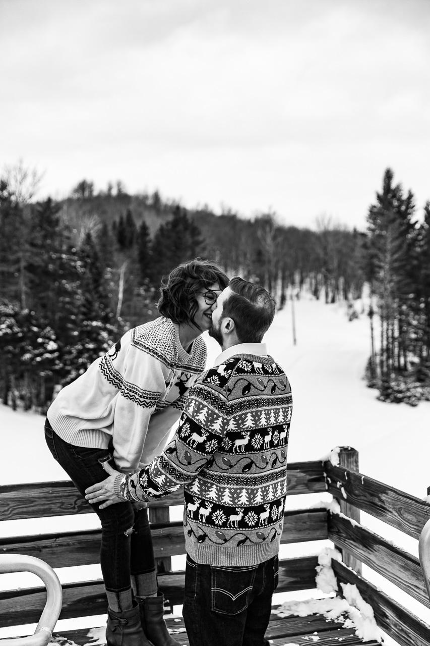 Portland Maine Winter couples portraits engagement photographer mouse island creatives wedding photography senior photos black white